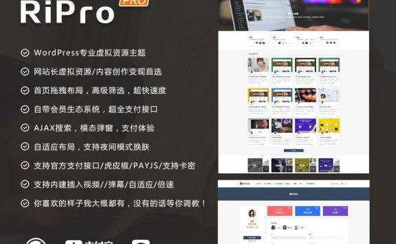 WordPress日主题RiPro6.3.8最新破解版源码